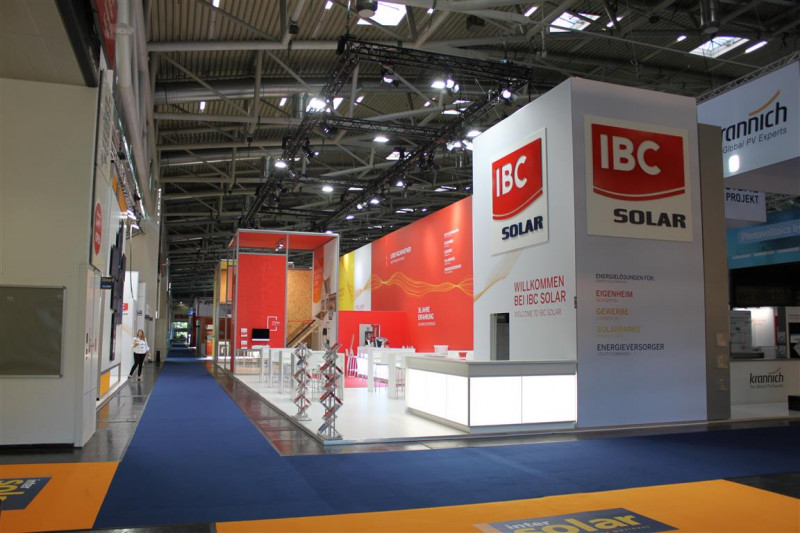 This year's IBC  booth as seen from the front side