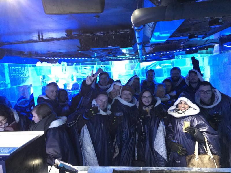 """After work at """"Icebar Stockholm"""""""